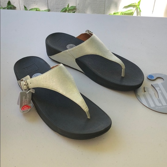 05882314391b0 New Fitflop Skinny Deluxe Silver Wedge Sandal 11